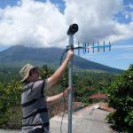 Instalan cinco estaciones sísmicas en volcán Chaparrastique