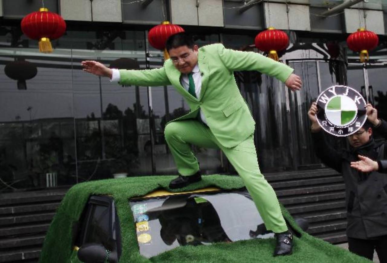 El multimillonaro Chen Guangbiao, de 45 años.