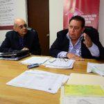 """Ernesto Cuestas y Luis Mario Pérez explicaron que los """"despidos"""" no afectan el ideal de la obra. Foto EDH / Mario Amaya"""
