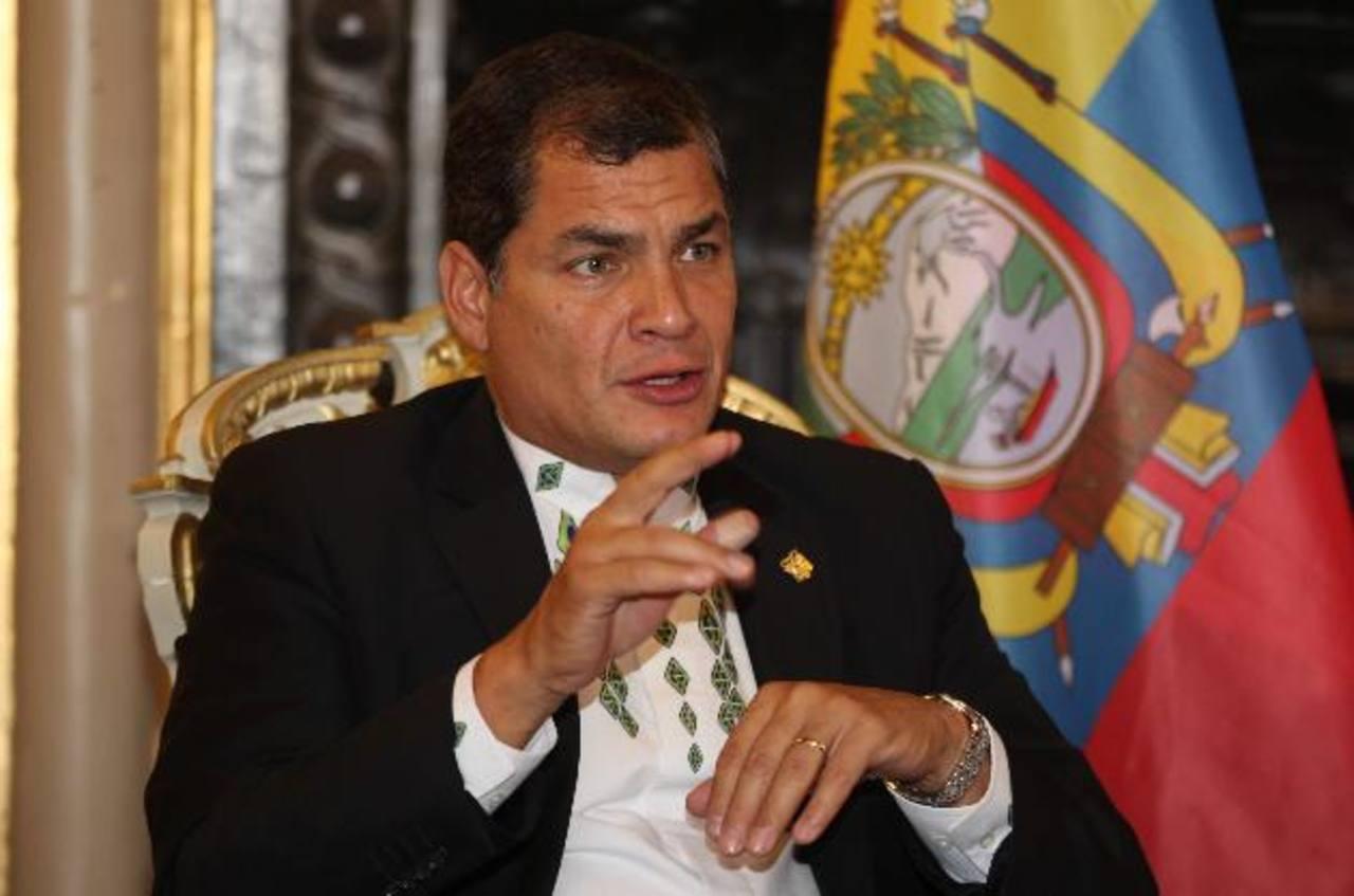 El presidente de Ecuador, Rafael Correa, no acepta críticas.