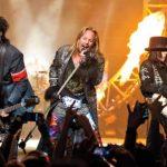Mötley Crüe en uno de sus conciertos más recientes.