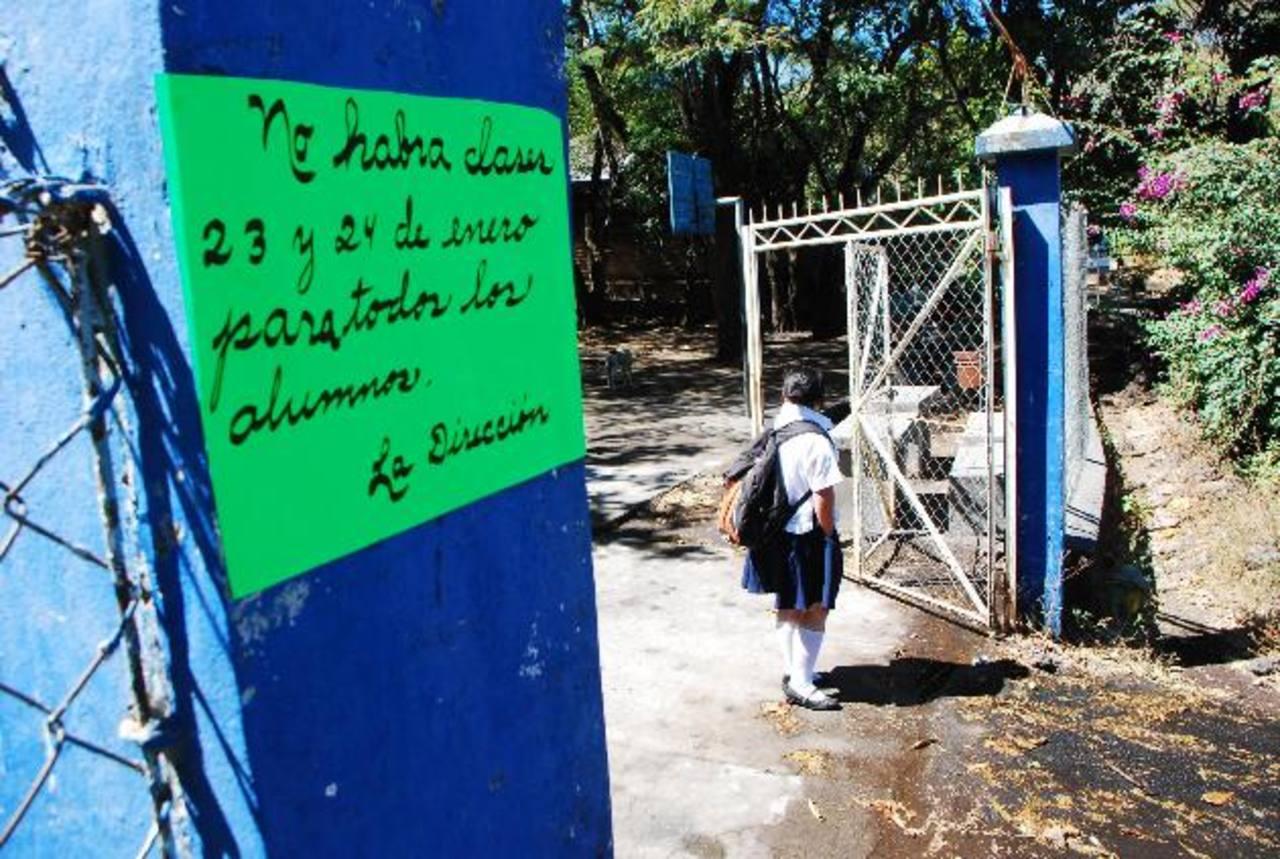 La escuela Finca Santa Isabel fue una de las que suspendió clases por orden de Protección Civil. Foto EDH / Carlos Segovia
