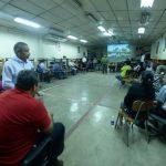 Los docentes del Instituto Nacional Técnico Industrial realizaron ayer la reflexión pedagógica. Foto EDH / MARLON HERNÁNDEZ