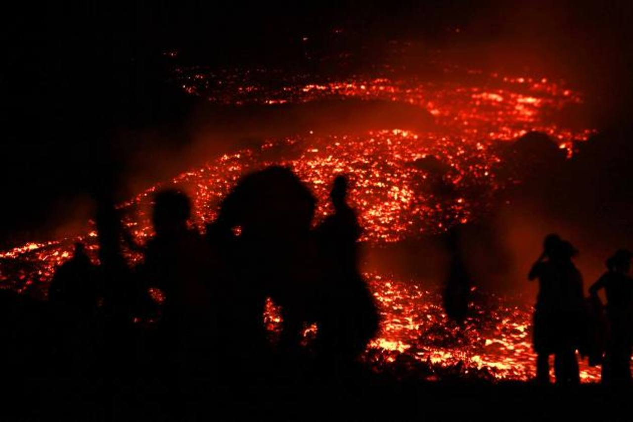 Erupción en el volcán Pacaya de Guatemala