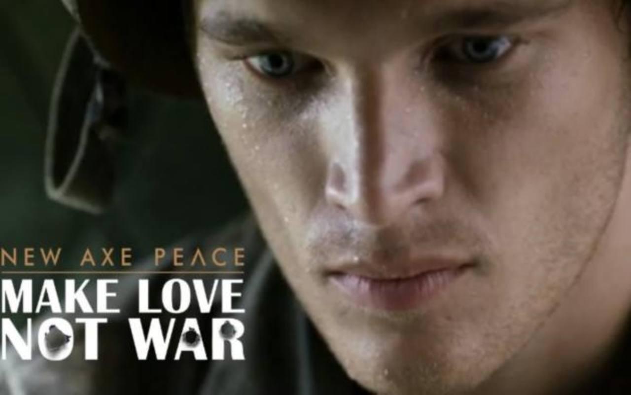 Haz el amor, no la guerra el nuevo comercial de AXE