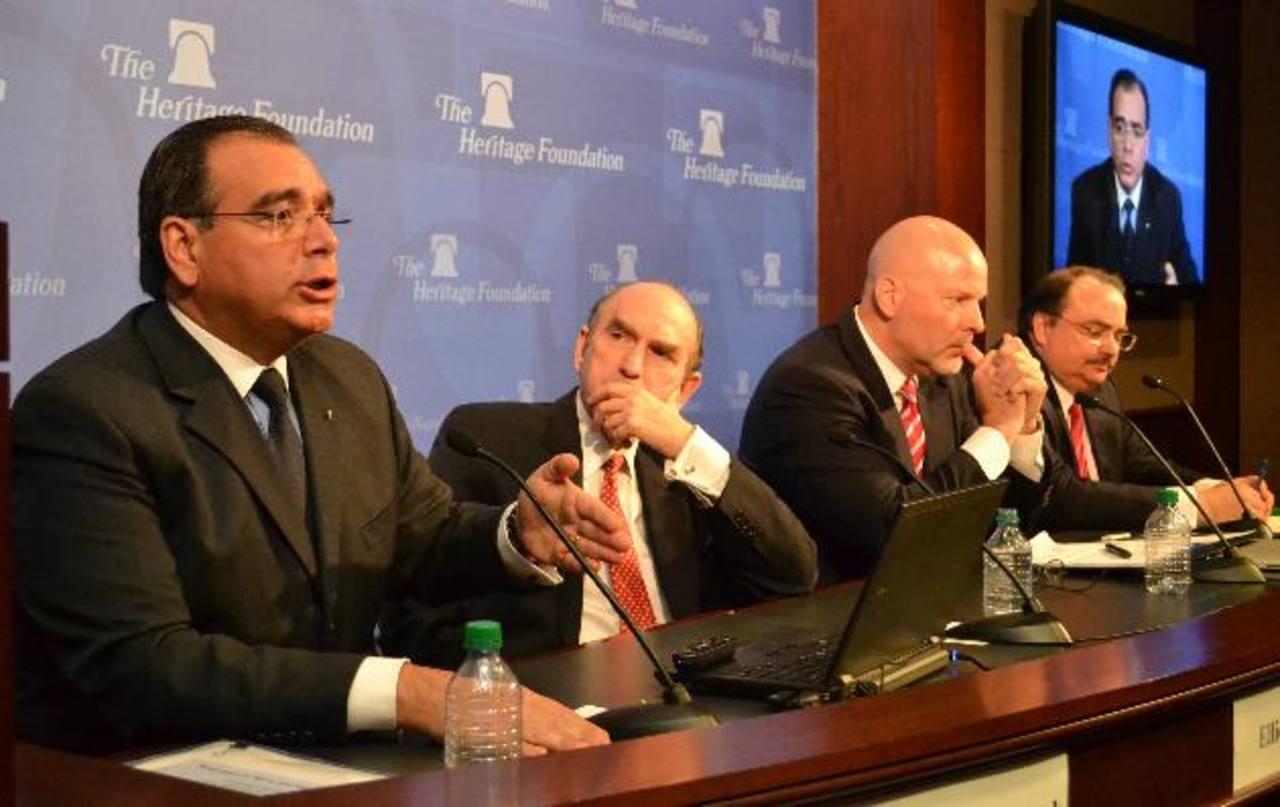 El economista Juan José Daboub, durante su intervención en el foro de la Heritage Foundation.