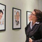 En el Museo Regional de Occidente, en Santa Ana, se exhiben desde hoy hasta el 4 de febrero 30 caricaturas de personalidades del ámbito político y empresarial. Foto EDH/ Mauricio Guevara