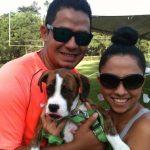 Aqui la familia #GradyAvilés mi esposo y mi nena #Carrie