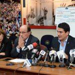 Diputados ARENA revelaron que gobierno pactó tregua entre maras. De izquierda a derecha, Marina Castro, Mario Valiente y Roberto d'Aubuisson.