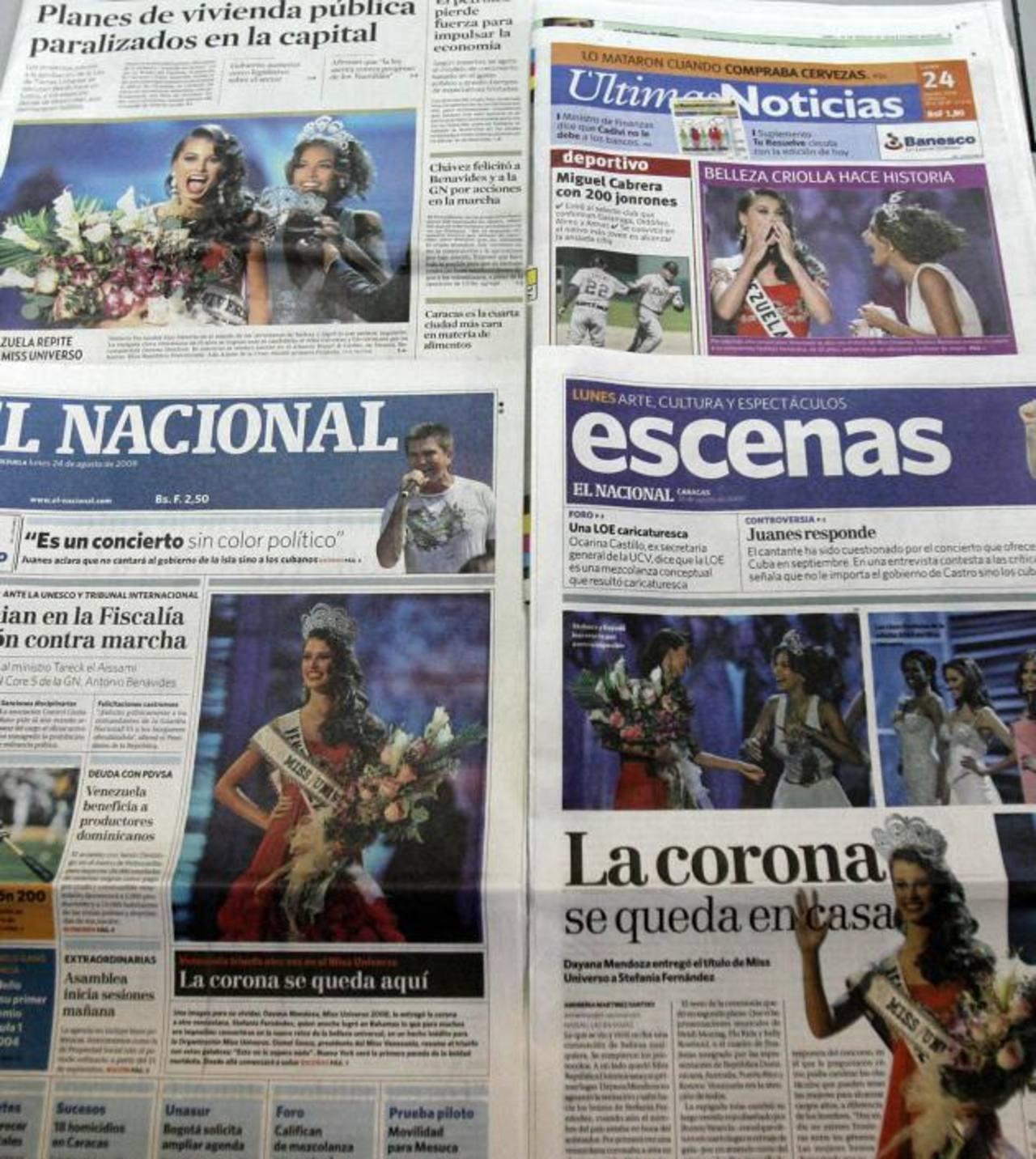 El Gobierno venezolano ha emprendido acciones legales en contra de diarios como El Nacional, Tal Cual y El Universal, entre otros, que son críticos a sus políticas. foto edh / archivo