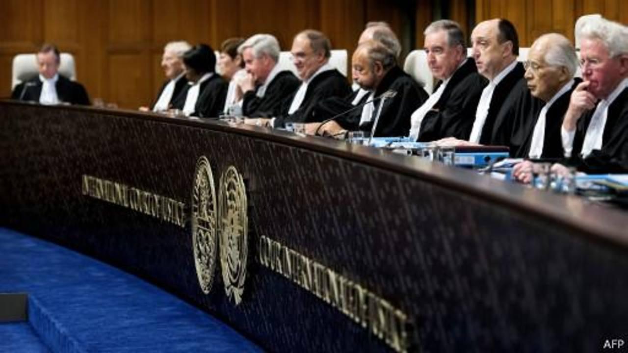 Miembros de La Corte Internacional de la Haya. Foto AFP