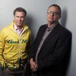 """El actor Will Ferrell y el director Adam McKay del filme """"Anchorman 2: The Legend Continues""""."""