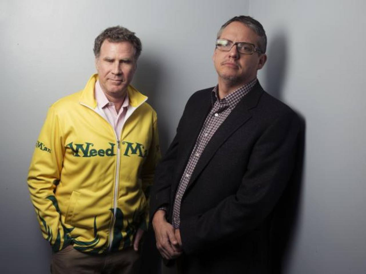 "El actor Will Ferrell y el director Adam McKay del filme ""Anchorman 2: The Legend Continues""."