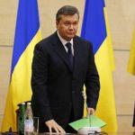 El fugitivo presidente de Ucrania, Viktor Yanukovych, poco antes de ofrecer una conferencia de prensa en Rostov del Don, Rusia. Foto AP