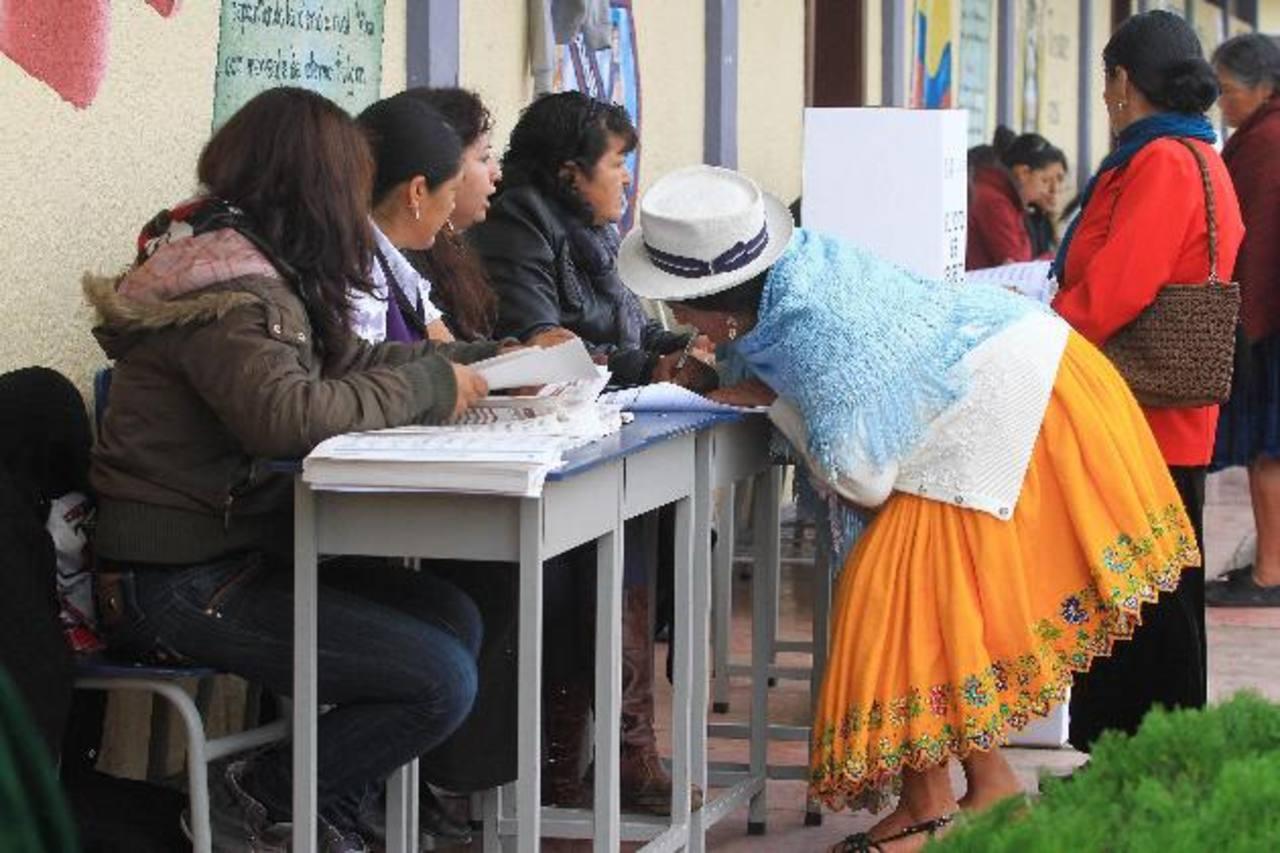 Elecciones en Ecuador. FOTO EDH Agencias.