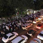 """Cientos de personas marcharon el miércoles en las ciudades de Culiacán y Guamúchil, en el estado de Sinaloa, noroeste de México, para pedir la libertad de Joaquín """"el Chapo"""" Guzmán. Foto/ EFE"""
