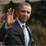 Presidente Barack Obama durante su arribo a la cumbre.