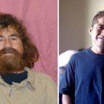 Así quedó Salvador Alvarenga tras el corte de cabello, barba y bigote. Foto tomada del dailymail.co.uk.