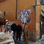 """El grafiti de """"Súperpapa"""" llamo la atención de turista, sin embargo, la imagen que revolucionó las redes sociales ya fue eliminada. Foto/ Archivo"""