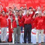 La alta dirigencia del FMLN ha defendido el sistema político de Venezuela desde que Hugo Chávez era presidente de ese país, ahora endosan su apoyo a Nicolás Maduro. Foto edh/archivo