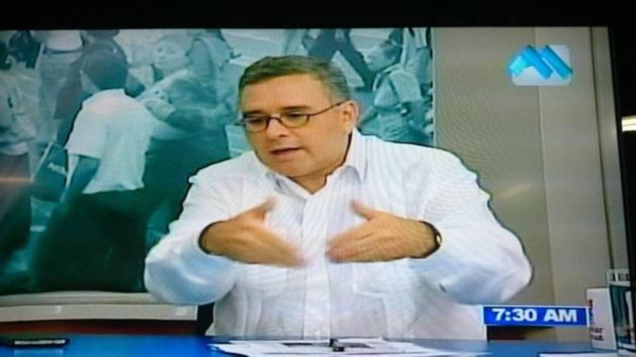 Presidente Mauricio Funes captado en el Canal 21. FOTO EDH