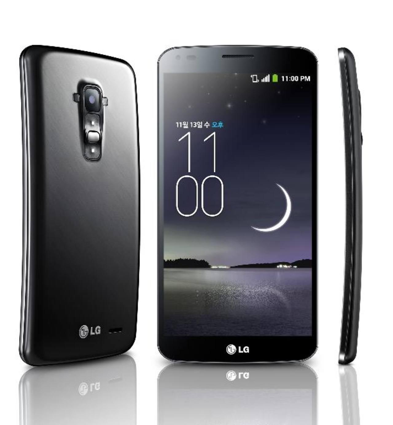 El novedoso Smartphone de LG, G Flex, que con su pantalla curva
