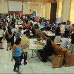 Masiva afluencia en Jobs la feria del empleo en el MARTE. foto edh