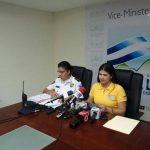 La comisionada Guadalupe Quintana y Olivia Artiga, Directora de Tránsito, explicaron detalles del accidente del ferrari. FOTO EDH Omar Carbonero.