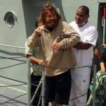 El salvadoreño José Salvador Alvarenga, quien fue rescatado hoy tras sobrevivir 13 meses a la deriva en el Océano Pacífico. Foto/ Agencias