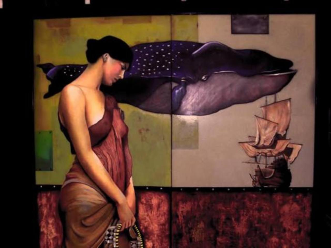 Alex Donado presenta una obra inspirada en el surrealismo y la figura humana.
