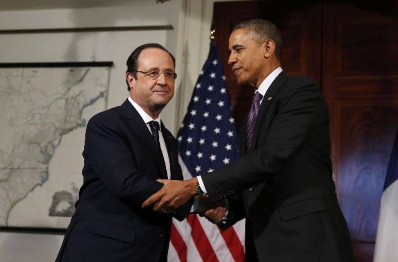 Los presidentes de Francia, Francois Holande, y de Estados Unidos, Barack Obama. Foto/ AP