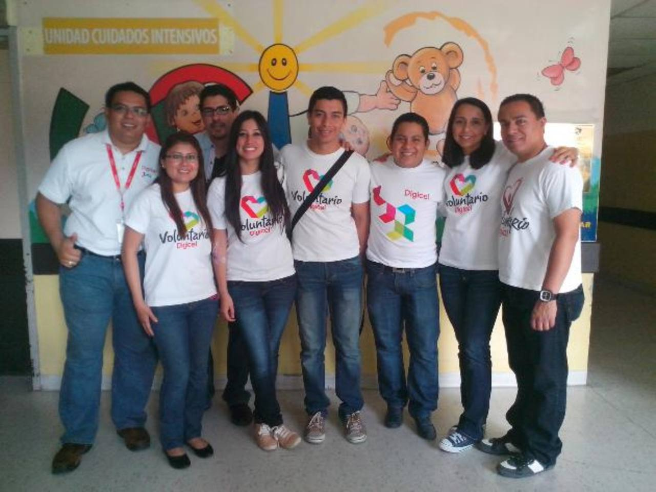 El equipo de voluntarios Digicel contribuyó para hacer una actividad memorable.