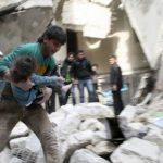 El distrito de Al Sukari en Alepo bajo los escombros, tras el ataque aéreo de las fuerzas leales al dictador Al Assad. foto edh / reuters
