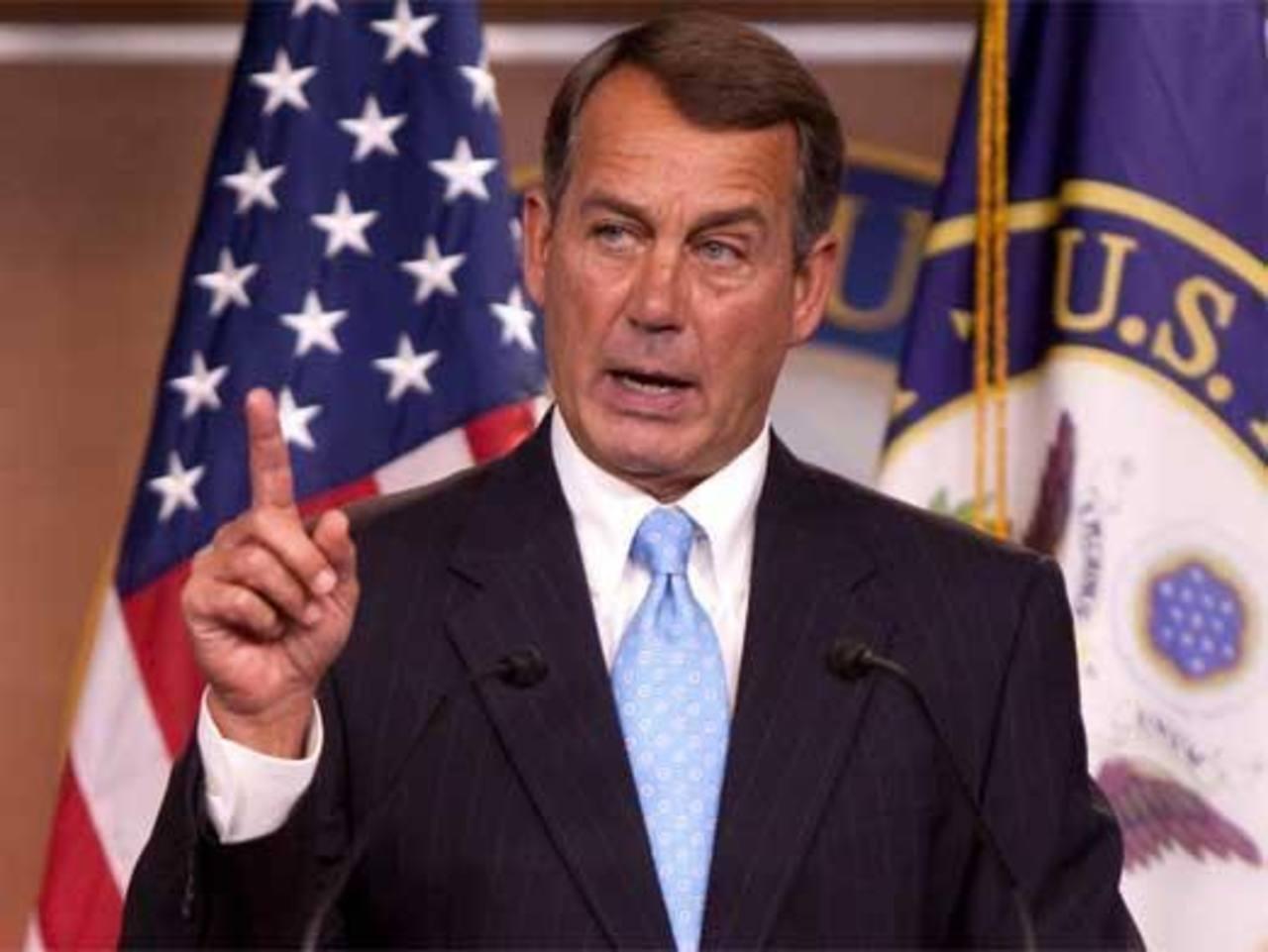 El líder de la mayoría republicana de la Cámara de Representantes, John Boehner. foto edh / internet