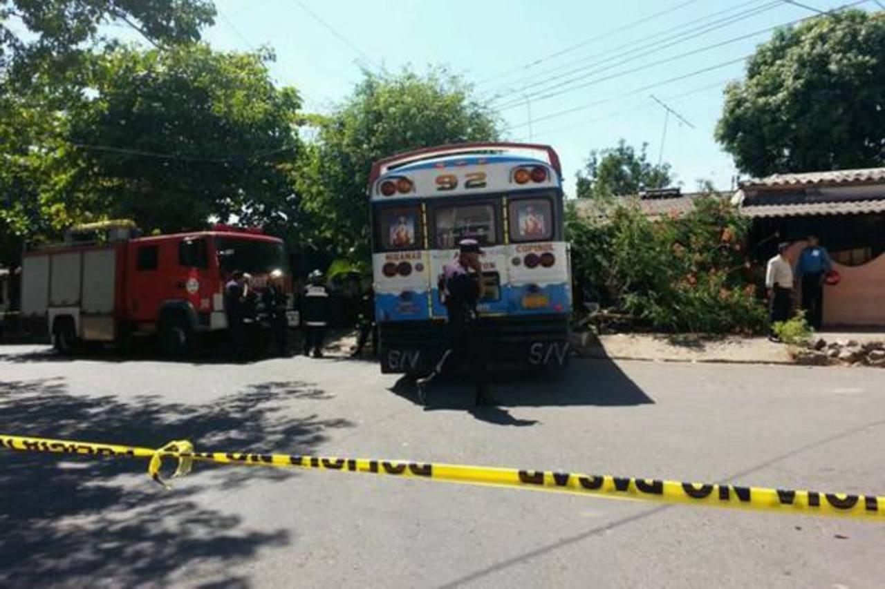 El busero no solo mató a Reina Rodríguez, sino que también causó daños en una casa. Foto EDH / Twitter Alfredo Rodríguez
