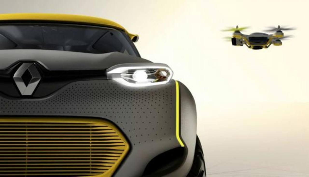 Prototipo de auto con drone incorporado
