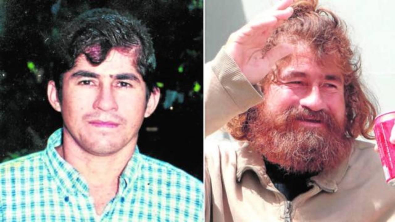 José Salvador Alvarenga antes y después de sufrir el naufragio