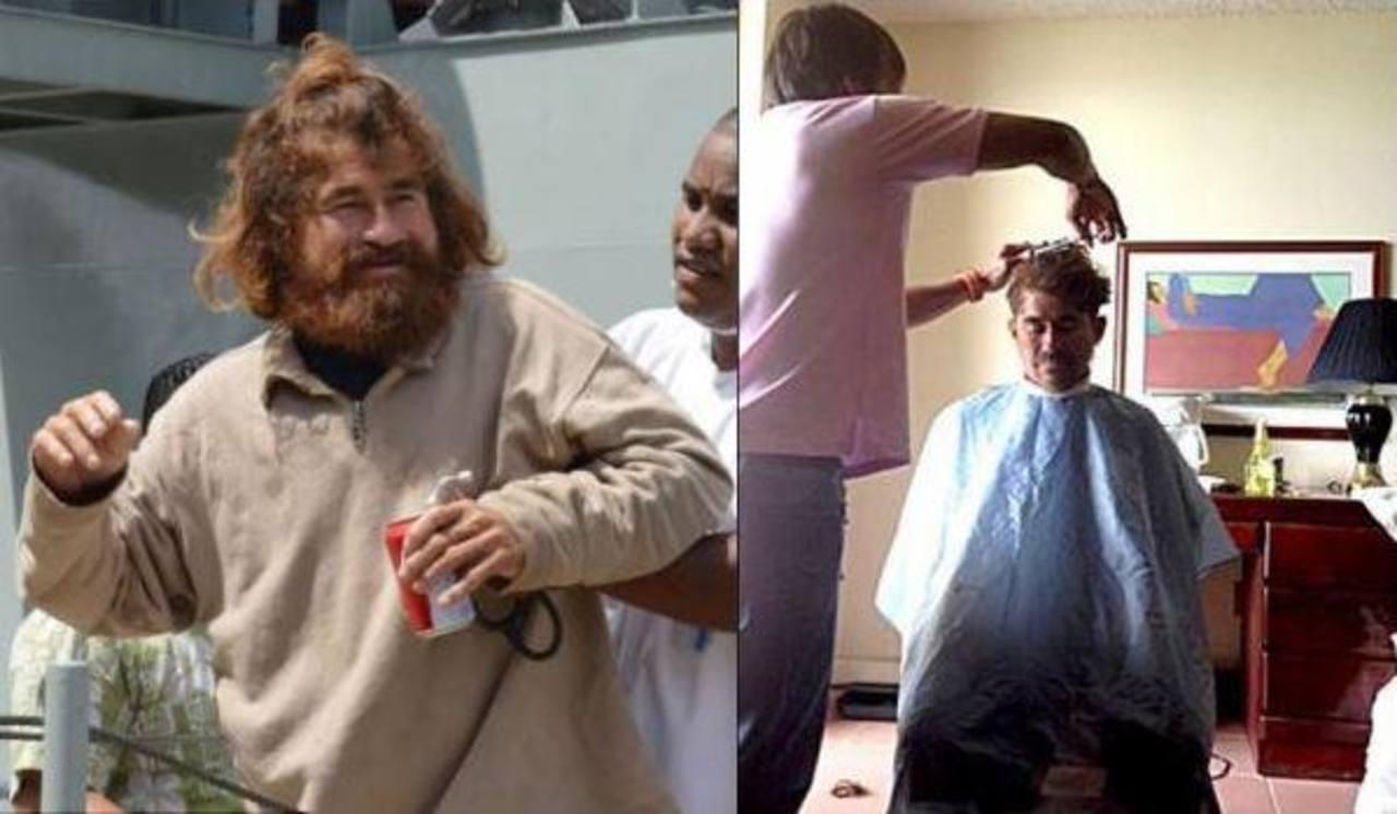 Alvarenga recibió un corte de cabello