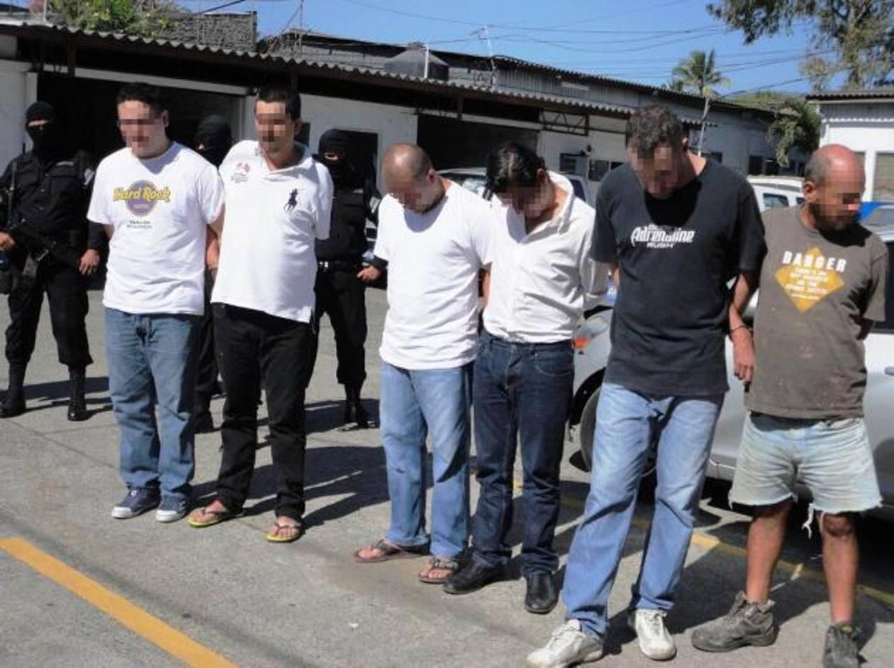 Los detenidos fueron presentados ayer por la Policía.