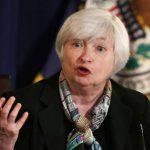 La presidenta de la Reserva Federal, Janet Yellen, habla durante una conferencia de prensa después de la reunión del Comité Federal de Mercado abierto, hoy miércoles 19 de marzo, en Washington.
