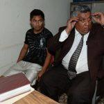 Walter Mineros Martínez, de 18 años, durante la audiencia inicial. Foto EDH / Jaime Anaya