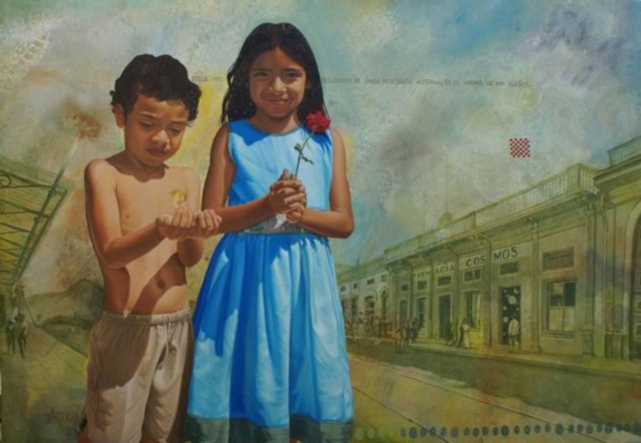 Obra del artista Álex Cuchilla, uno de los cuatro talentos que constituyen la muestra Retorno de la Nostalgia.