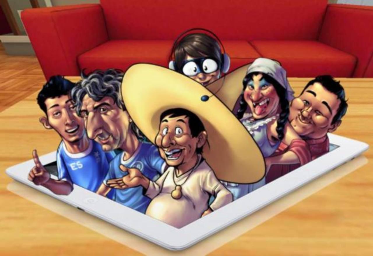 Los personajes salvadoreños que forman parte del Guanapolio APP. Foto tomada del Facebook de Guanapolio