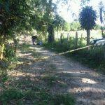 Escena de homicidio en Santa Cruz Michapa.