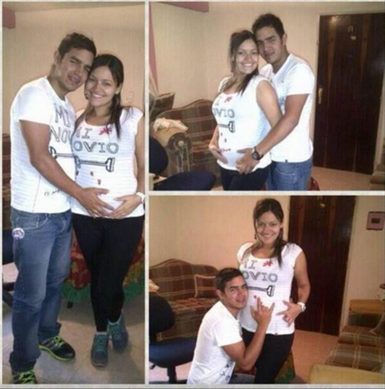 Mujer embarazada fallecida durante las protestas en Venezuela luce feliz en redes sociales su embarazo. Foto EDH/ twitter