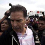 Imagen del 24 de mayo de 2013 del expresidente Alfonso Portillo durante el proceso de su extradición a EE. UU. foto EDH /efe