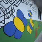 """El mural """"Por ser niña"""" es un trabajo en conjunto con Plan El Salvador y la Fundación Llort. FOTO EDH/Lissette Monterrosa"""