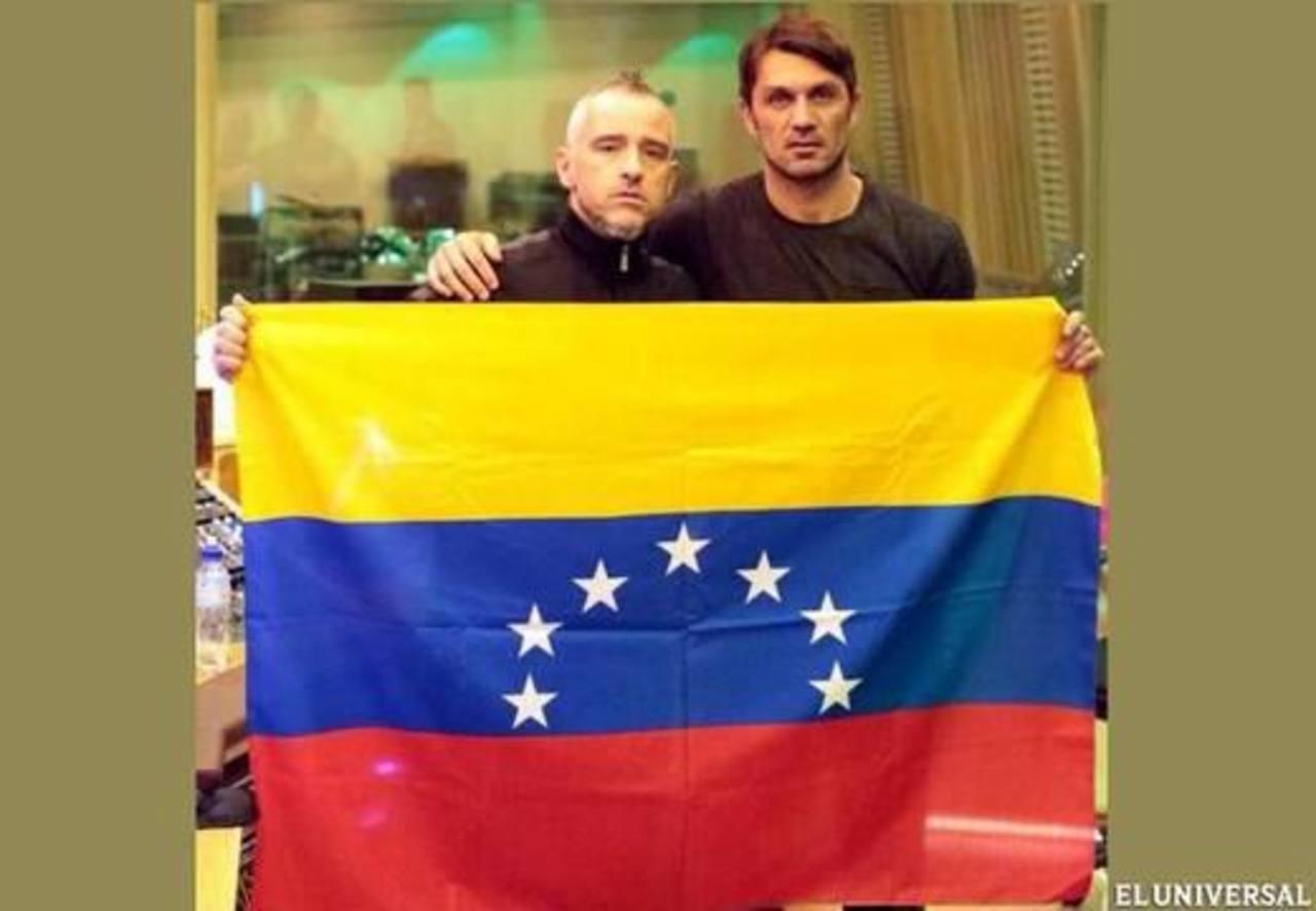 El cantante Eros Ramazzotti y el futbolista italiano Paolo Maldini mostraron su apoyo a Venezuela.