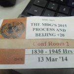 La sede de la ONU, en Nueva York, se realizó el 58º período de sesiones de la Comisión sobre la Condición Jurídica y Social de la Mujer.