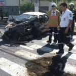 Un herido en aparatoso accidente en avenida Jerusalén